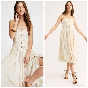 Free People Amanda Midi Dress, Size M
